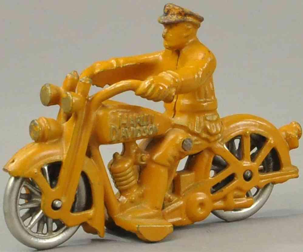 hubley gusseisen polizeimotorrad harley davidson orange