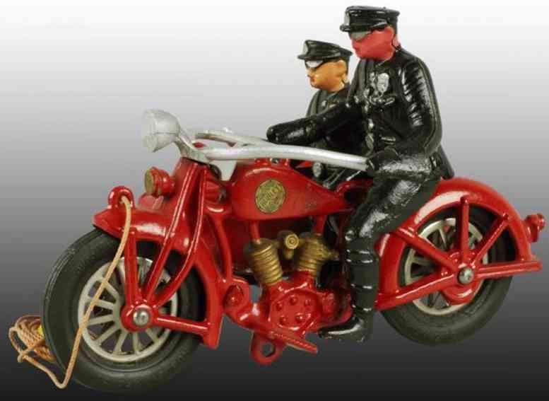 hubley 46 spielzeug gusseisen polizeimotorradfahrer beiwagen beifahrer