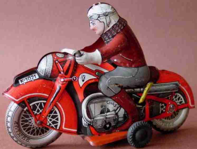 huki kienberger k-1021 blech spielzeug motorradfahrer