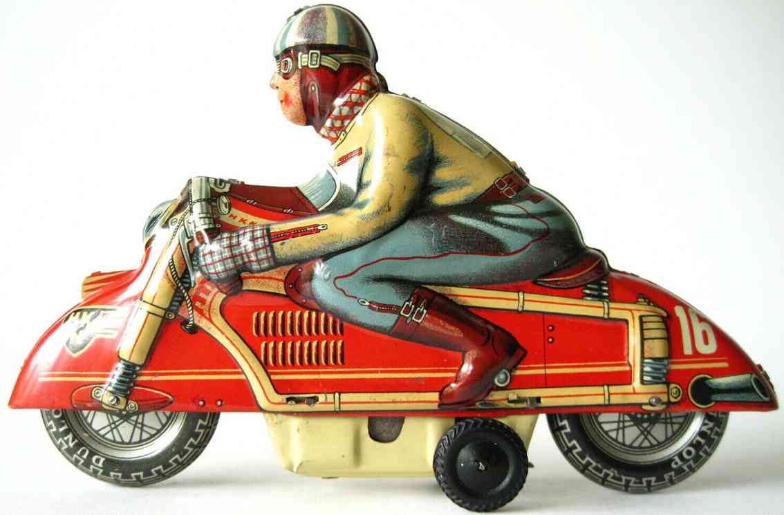 huki - kienberger 16 blech spielzeug motorradfahrer