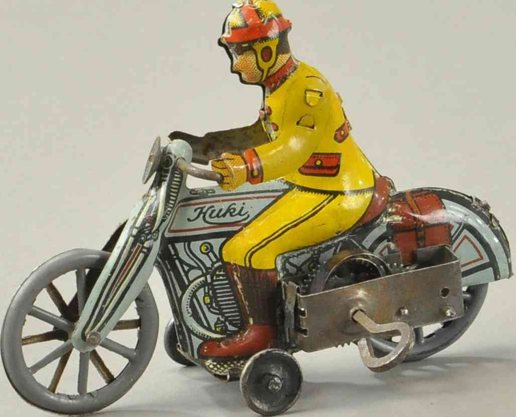huki kienberger blech spielzeug motorradfahrer