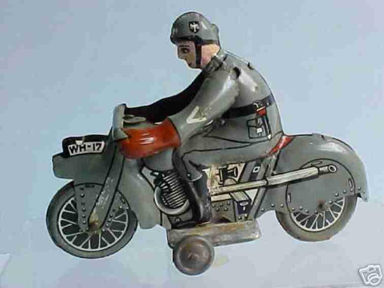 huki kienberger wh-17 blech spielzeug motorrad militaermotorradfahrer