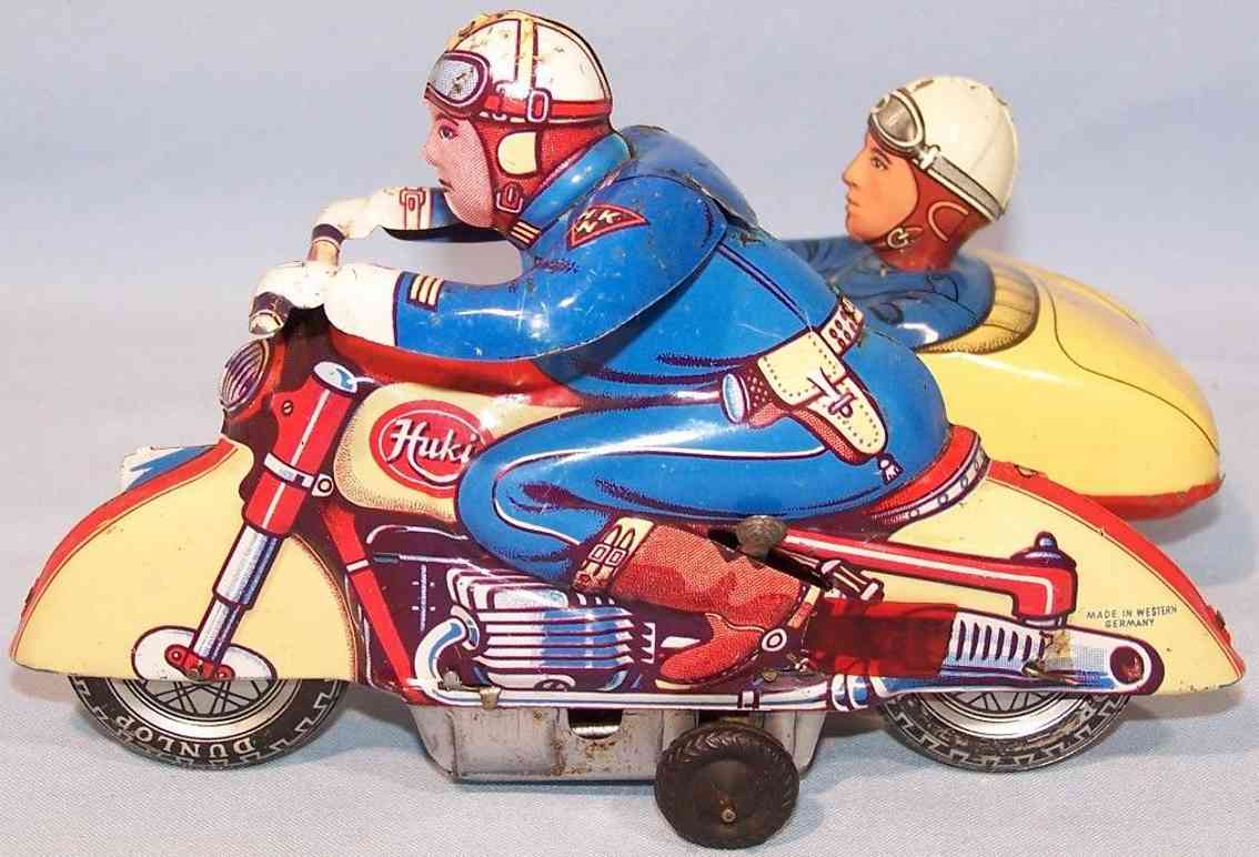huki kienberger blech spielzeug motorrad reisegespann mit uhrwerk