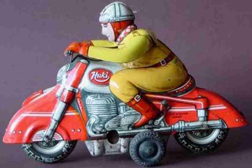 huki kienberger tin toy motorcycle motorcyclist