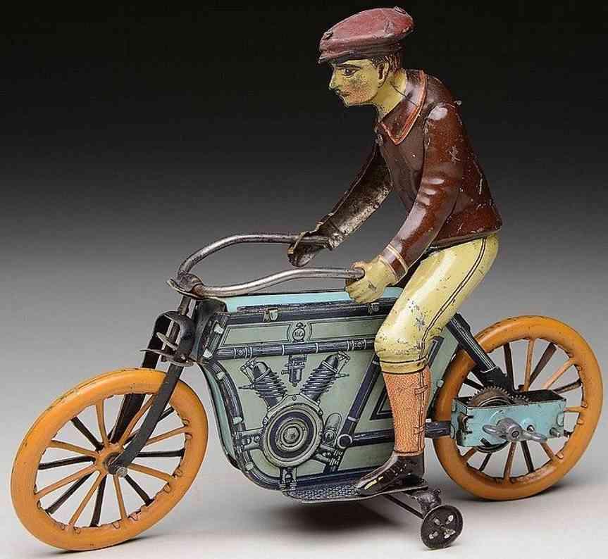 huki kienberger tin toy motorcyclist