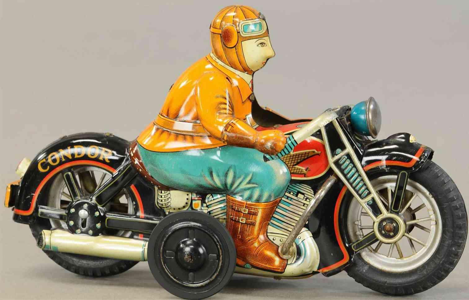 i y metal toys blech spielzeug condor motorradfahrer uhrwerk