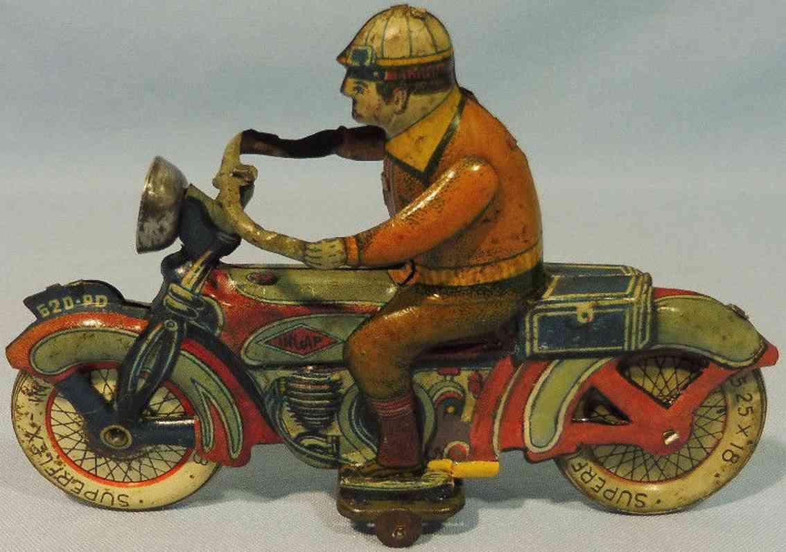 ingap 520 pd blech spielzeug motorrad motorradfahrer