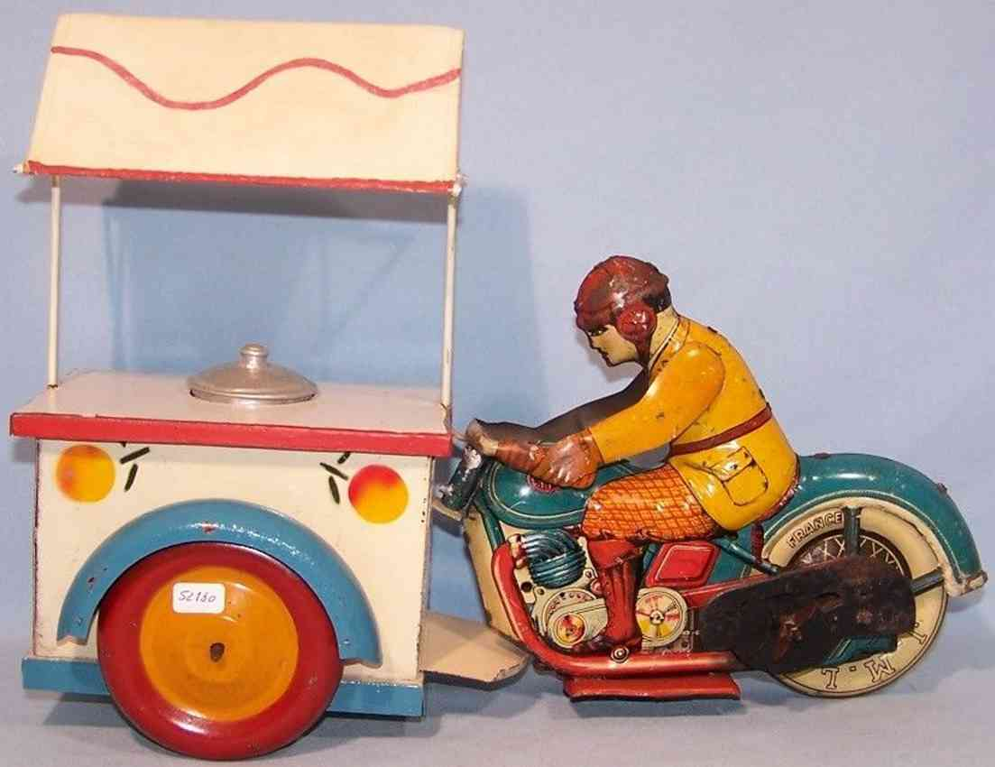 j.m.l. co tin toy load motorcycle glace