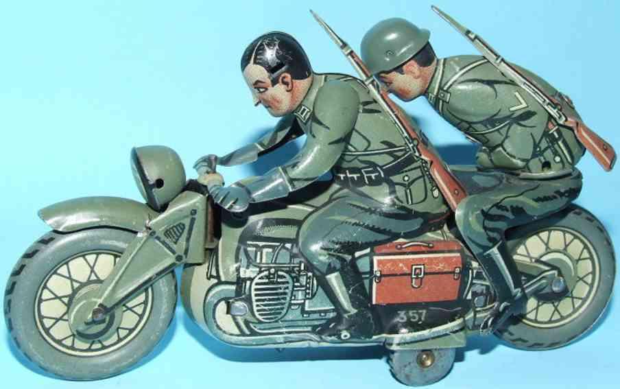 Kellermann 357 Motorrad Sozius in der Ausführung Wehrmacht