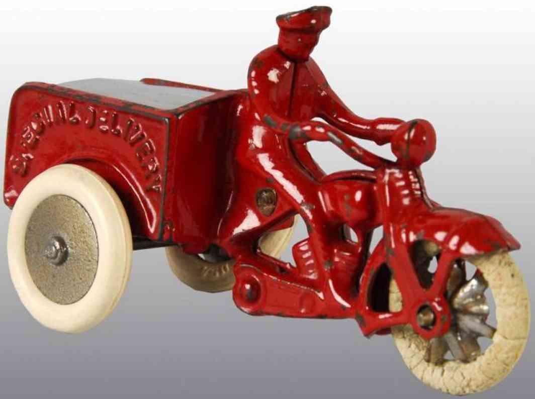 Kilgore Gußeisen Spezial Liefermotorrad rot Special Delivery