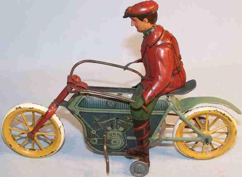 mohr & krauss blech spielzeug motorrad mit friktionsantrieb