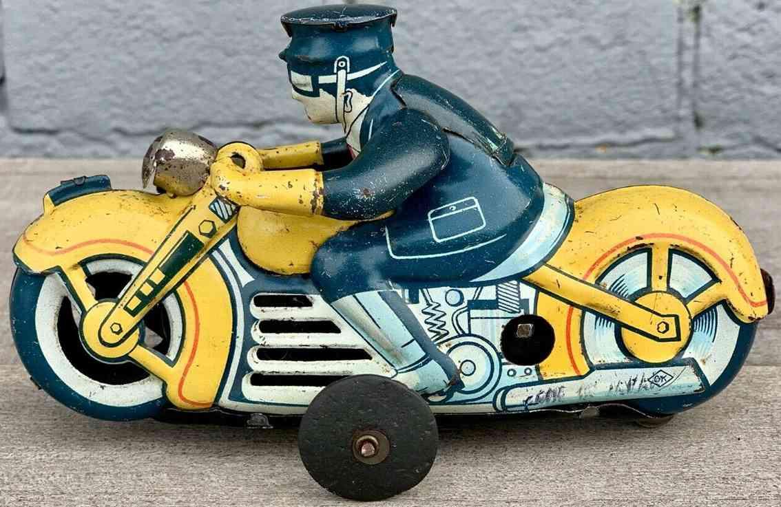 kuramochi tin toy ck kuramochi ksg kosuge wind-up police motorcycle