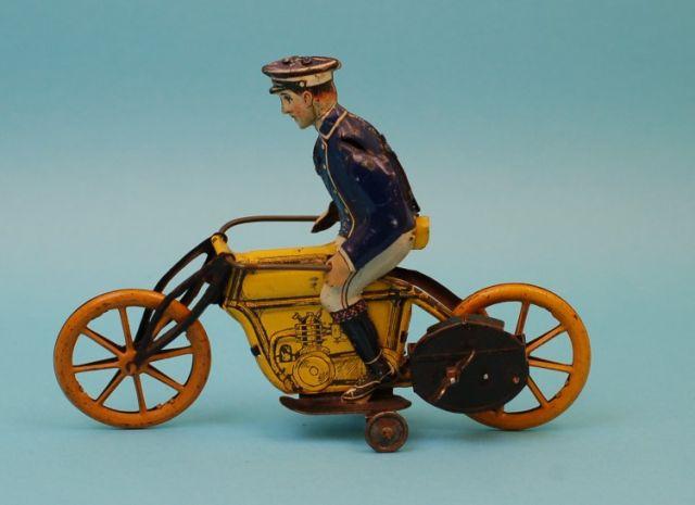 Levy George Gely Motorrad Postmotorradfahrer mit Uhrwerk