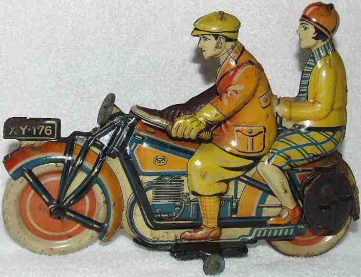 Levy George Gely XY-176 Motorradfahrer mit Beifahrerin