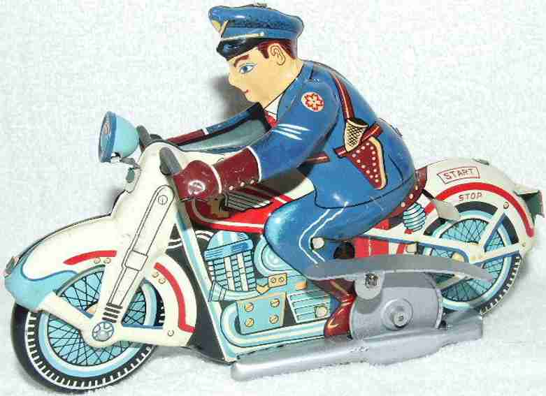 linemar pd-7 tin toy pd-7 indian police motorcycle