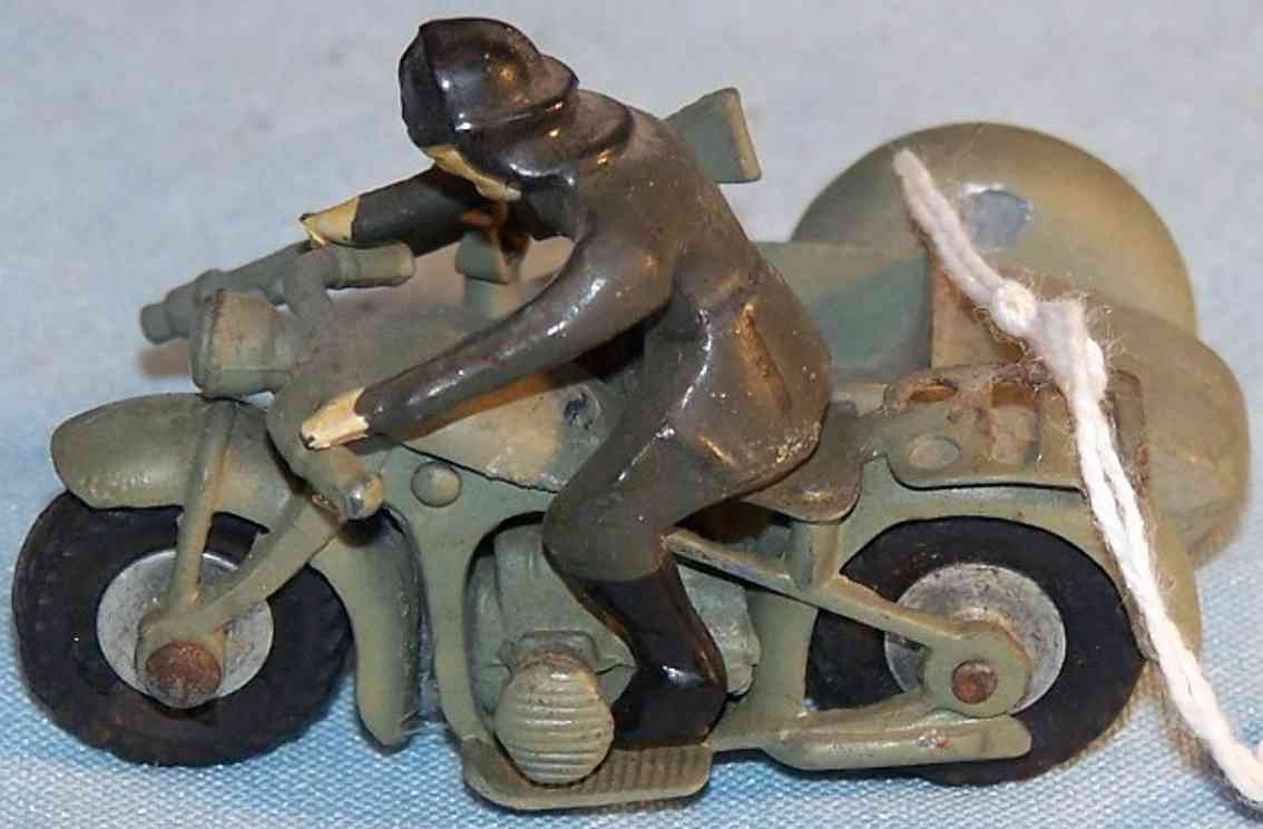 marklin military toy motorcycle with sidecar