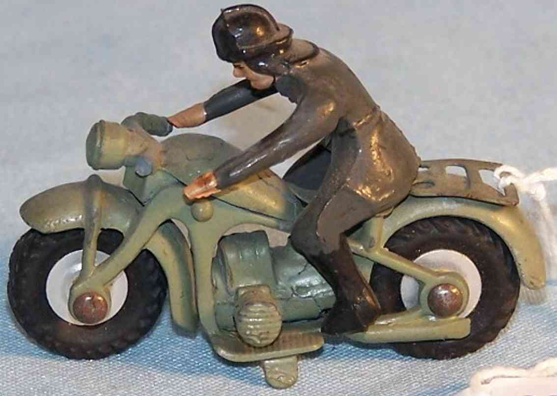 marklin military toy motorcycle with rider