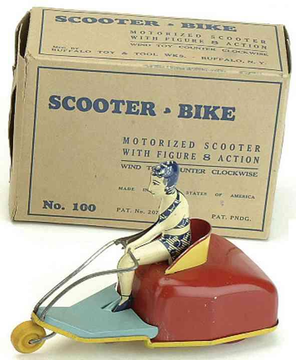 Marx Louis 100 Motorradr Dreirad mit Frau mit Uhrwerk