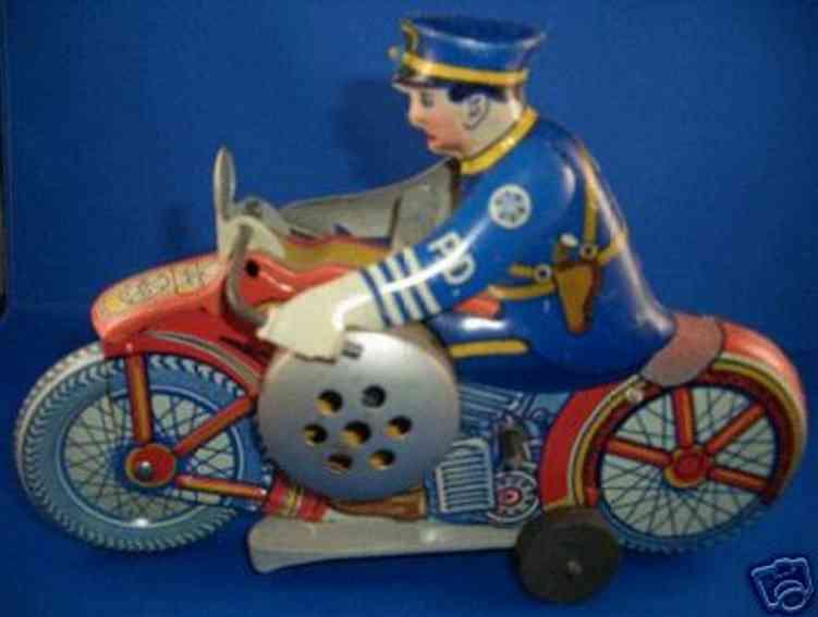 marx louis blech spielzeug motorradfahrer uhrwerk
