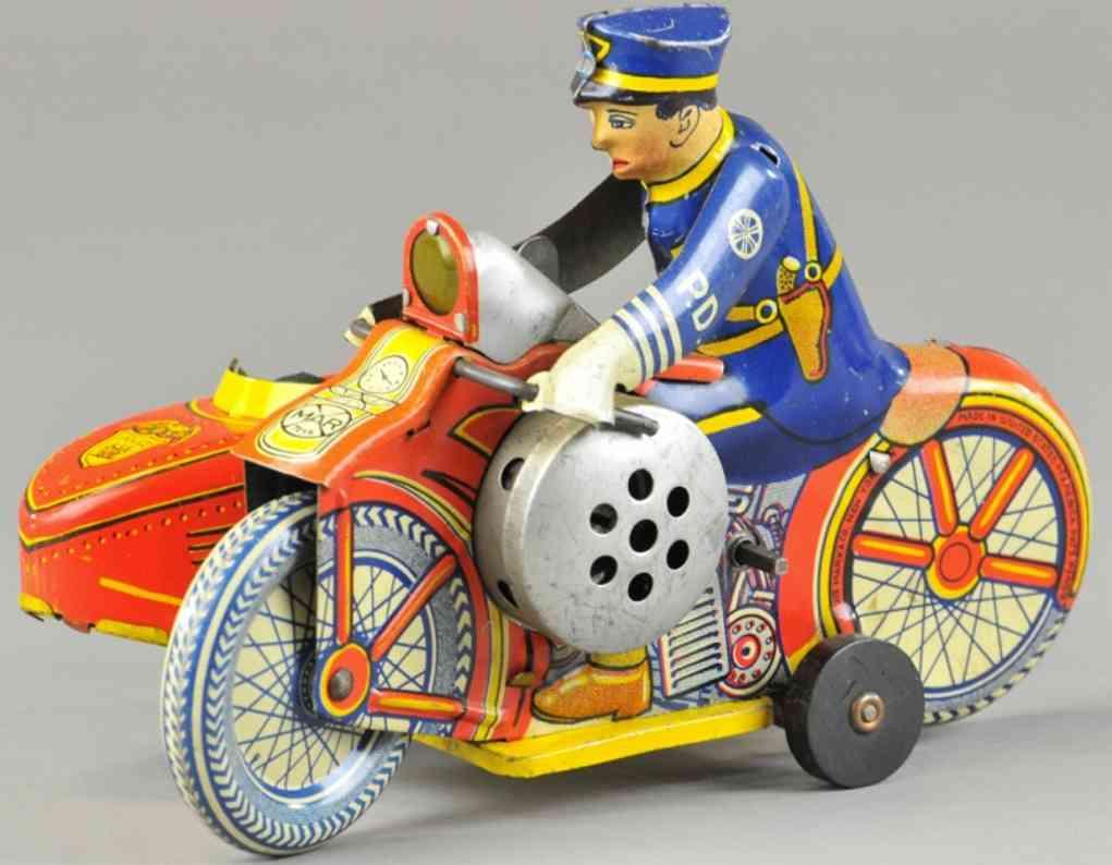marx louis blech spielzeug polizeimotorrad seitenwagen