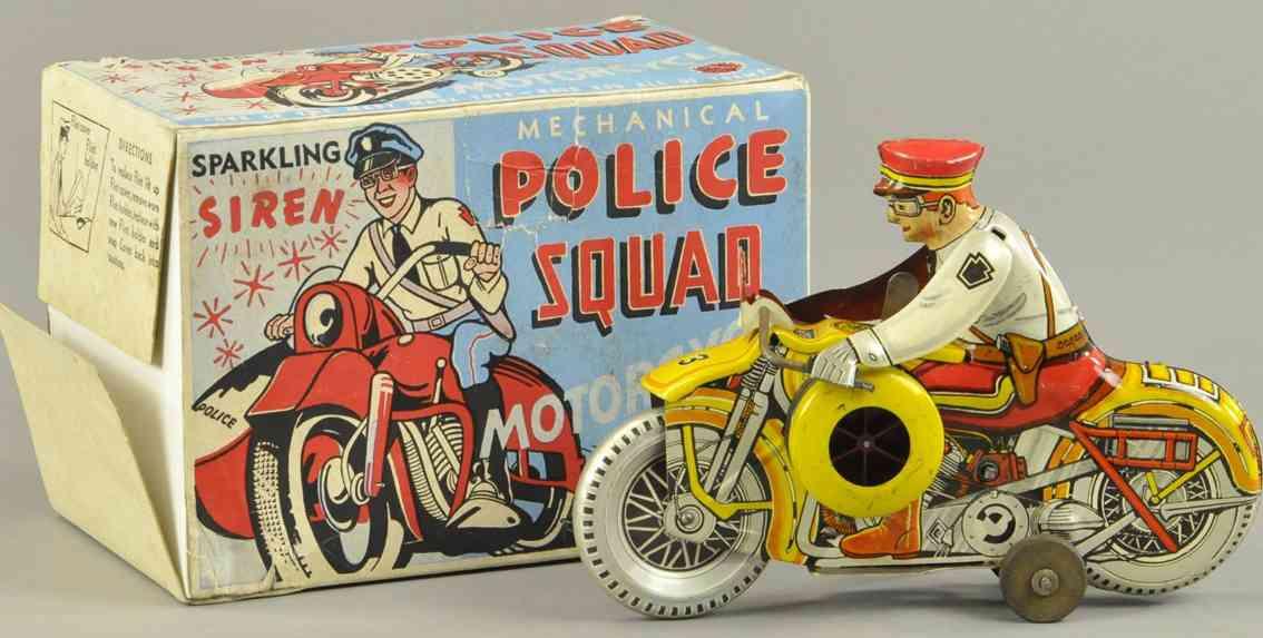 marx louis blech spielzeug  polizeimotorrad 3
