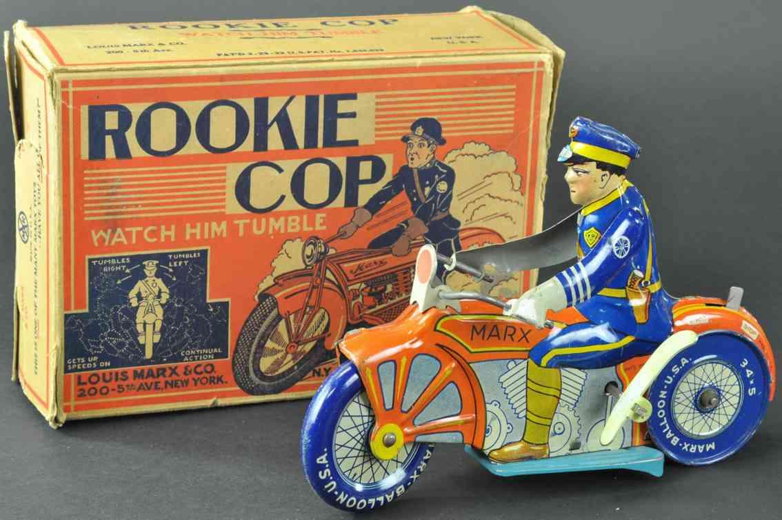 marx louis blech polizeianfaenger auf motorrad