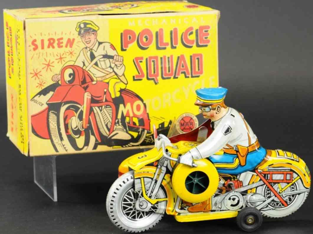marx louis blech spielzeug  polizeimotorrad seitenwagen 3