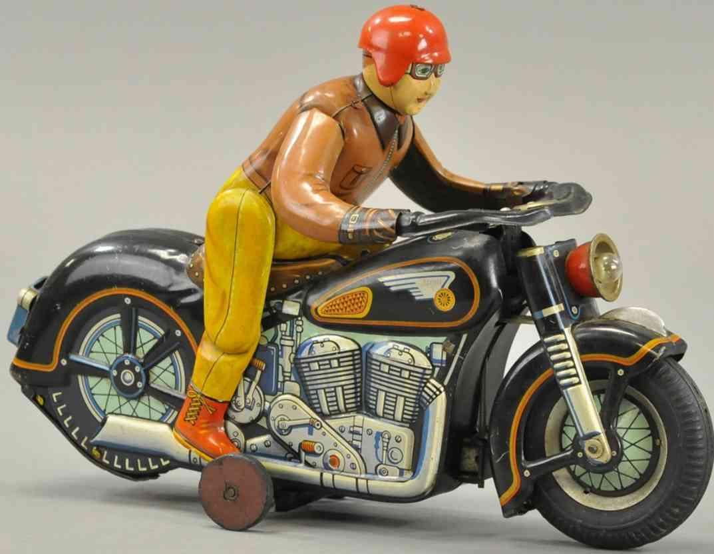 masudaya tin toy motorcycle atom tank touring rider