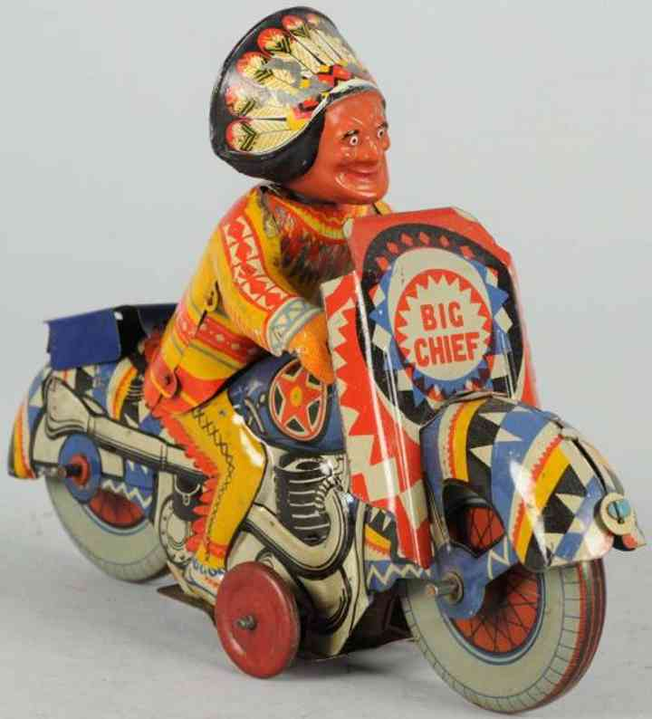 mettoy tin toy big chief indian motorcycle
