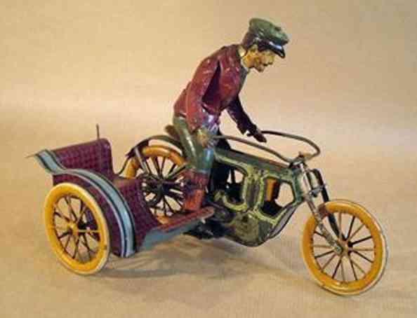 mueller & kadeder blech spielzeug motorrad seitenwagen