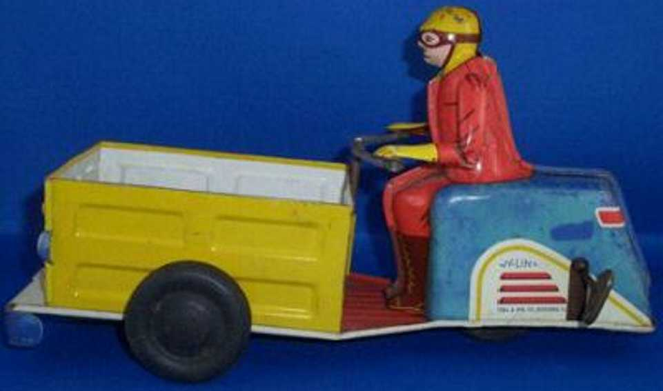 ny-lint co 1000 tin toy motorcycle motorcycle; deliver-all with wind-up