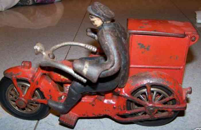 national sewing machine company 3 tin toy motorcycle the toy is a replica of one of the fastest most high tech mo