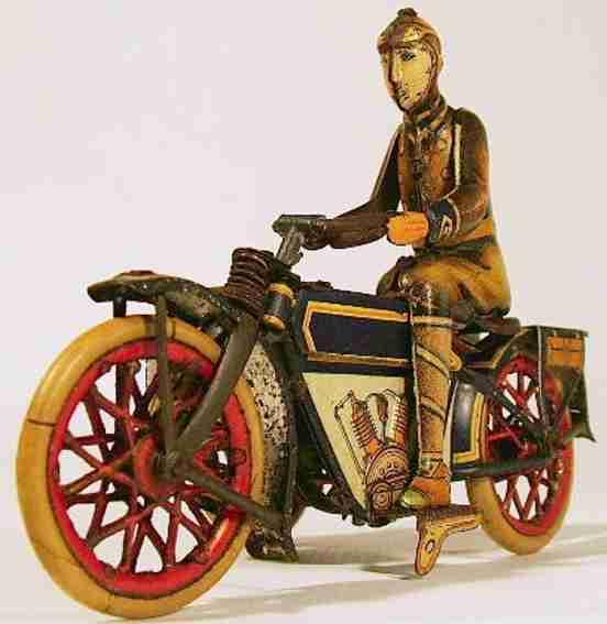paya blech spielzeug motorrad motorrad mit seitenwagen und uhrwerkantrieb