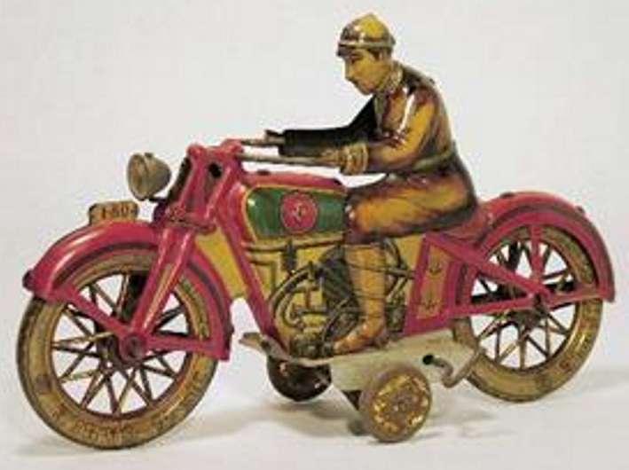 PAYA Motorradfahrer lithografiertes Blech