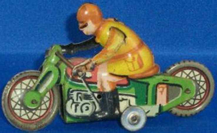 paya blech spielzeug motorradfahrer