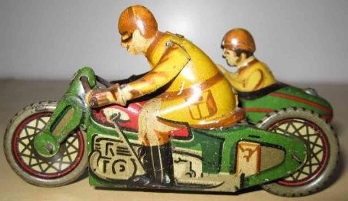 paya blech spielzeug motorrad motorrad mit seitenwagen und uhrwerk