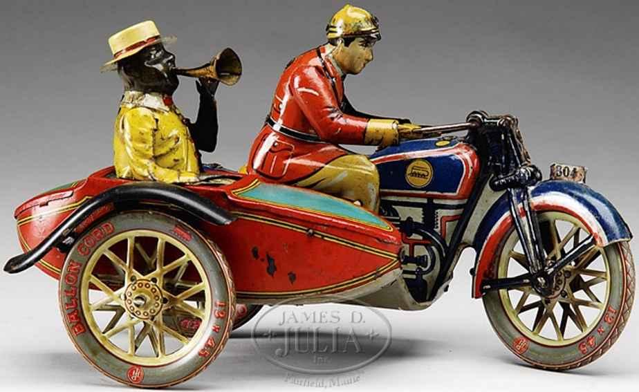 paya 1-804 motorradfahrer mit beifahrer rot blau