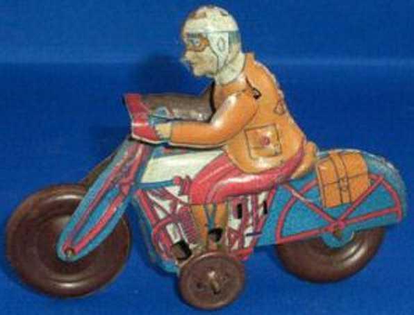 Rico Motorrad mit Fahrer