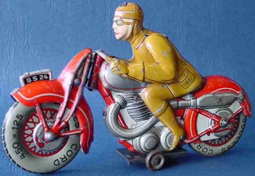 saalheimer & strauss ss24 blech spielzeug motorrad