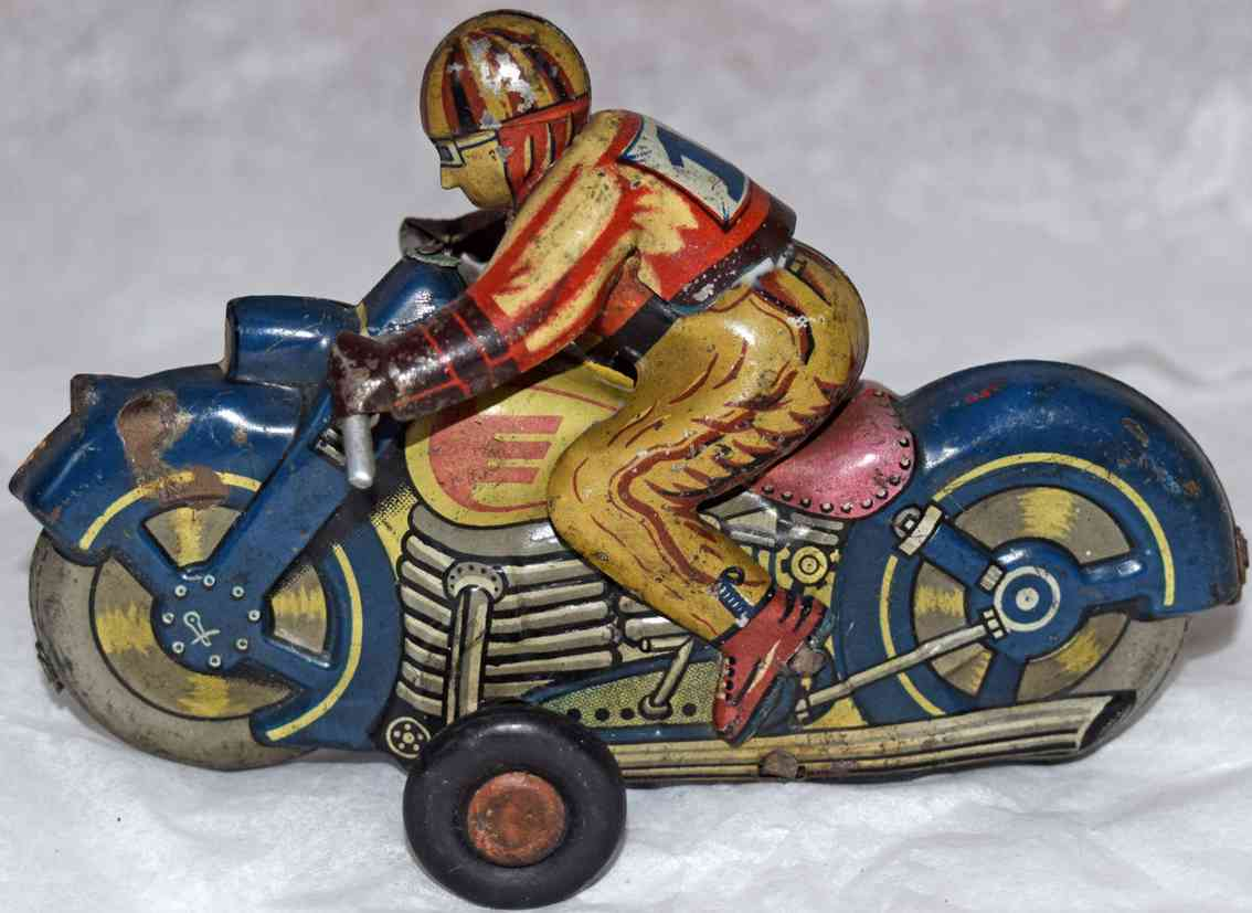 sato toys tin toy motorcycle friction drive