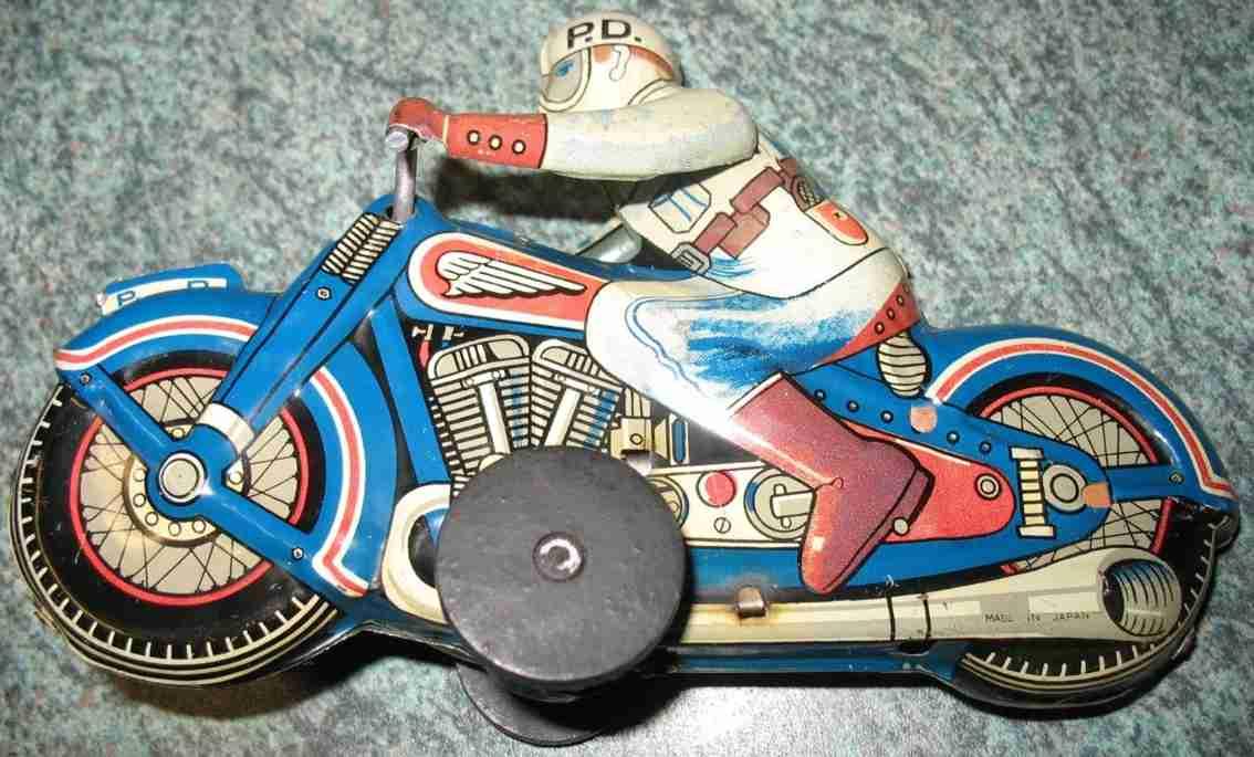 sato toys tin police motorcycle