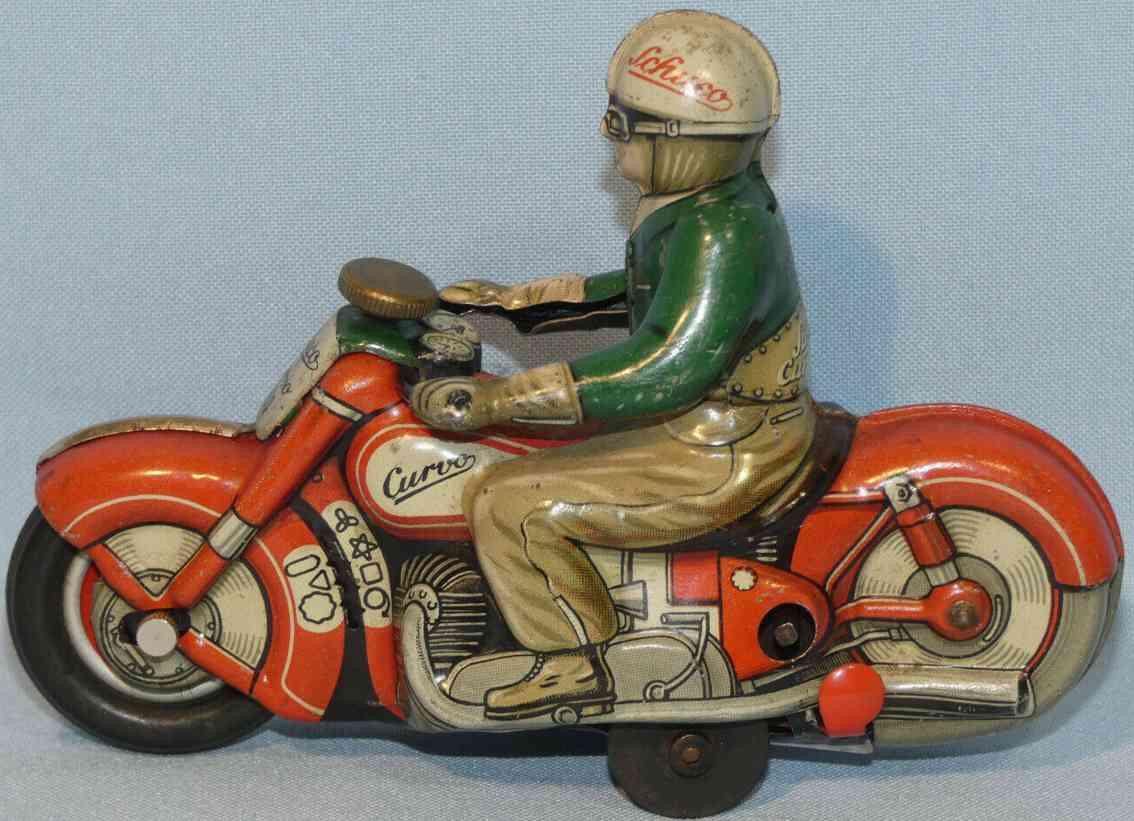 schuco blech spielzeug motorrad 1000 curvo rot