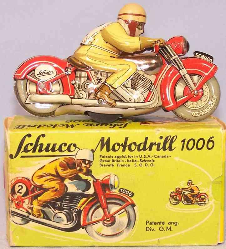 schuco 1006 blech spielzeug motorrad motodrill uhrwerk