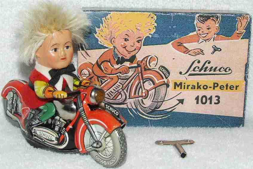 schuco 1013 blech spielzeug motorrad mirako peter uhrwerk