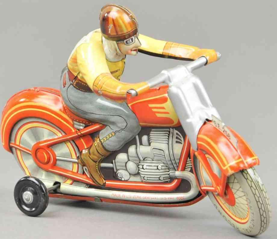 technofix ge 258 blech spielzeug motorrad  fahrer
