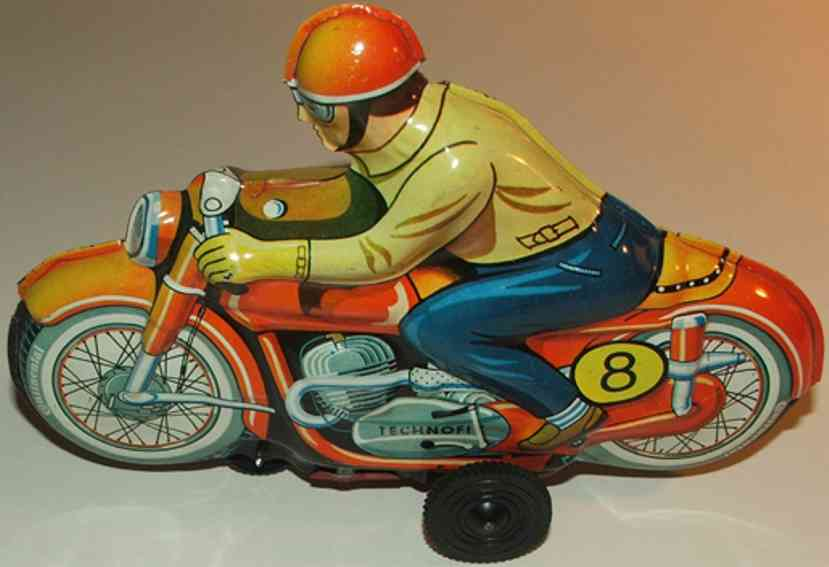 technofix 319 blech spielzeug motorradfahrer
