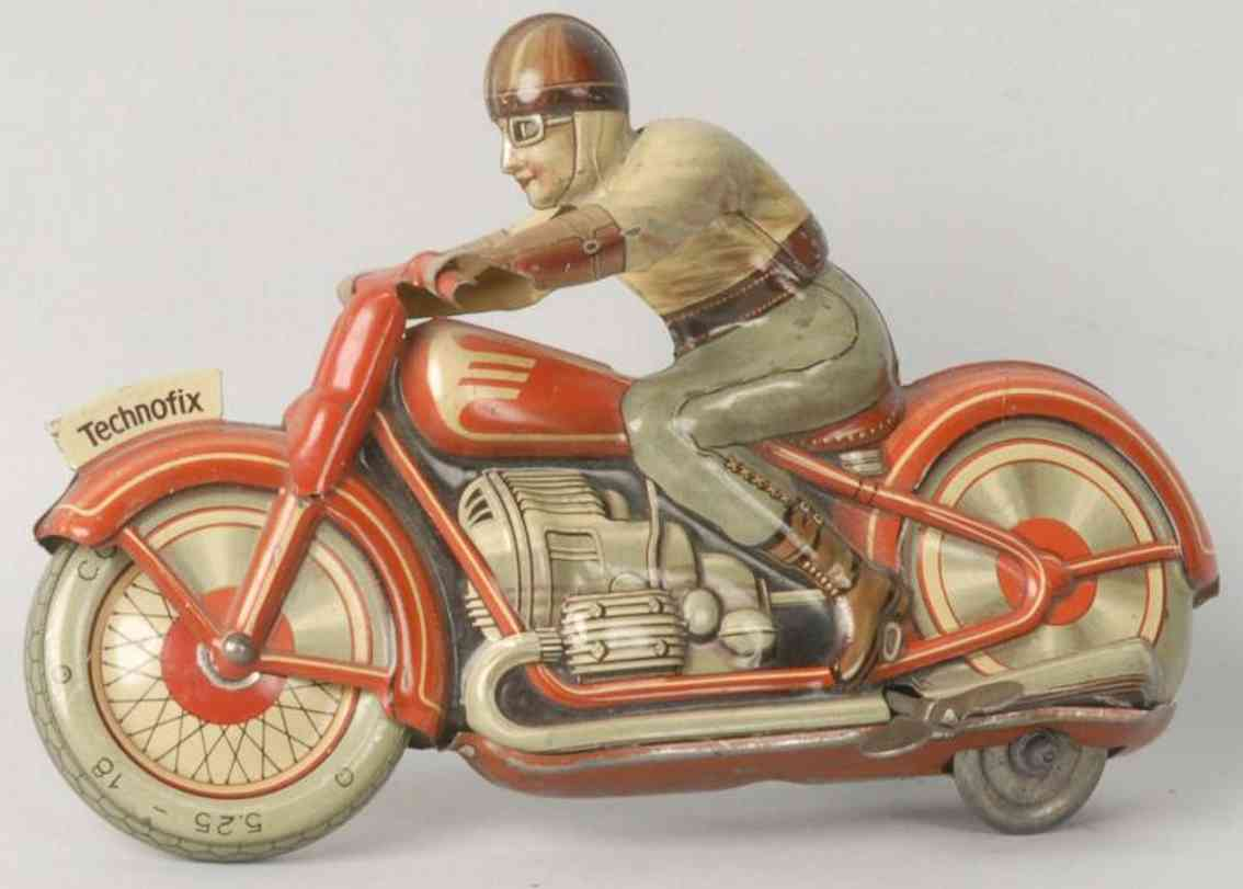 technofix 4 blech spielzeug motorradfahrer