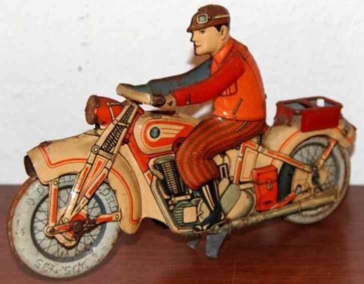 Tippco 586 Motorradfahrer mit Uhrwerk