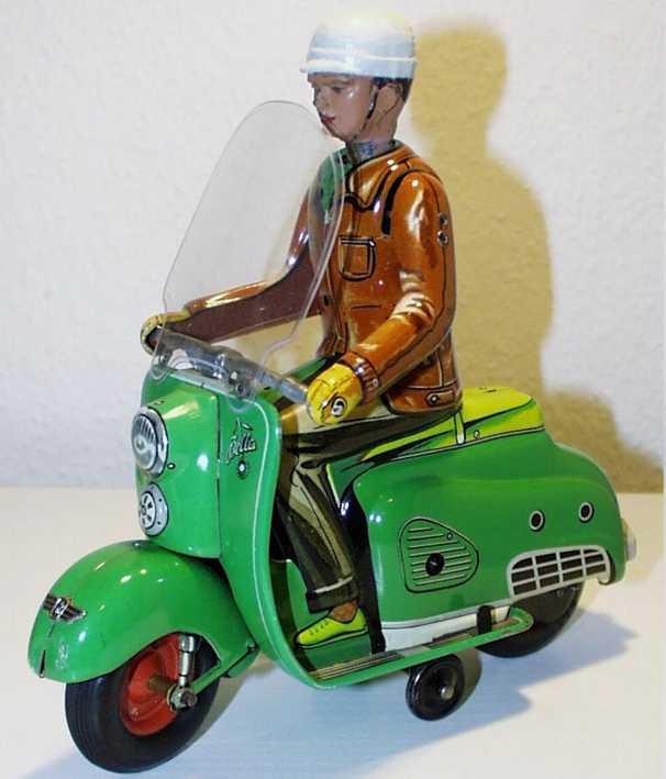 tippco 540 blech spielzeug motorradfahrer die zuendapp bella uhrwerk
