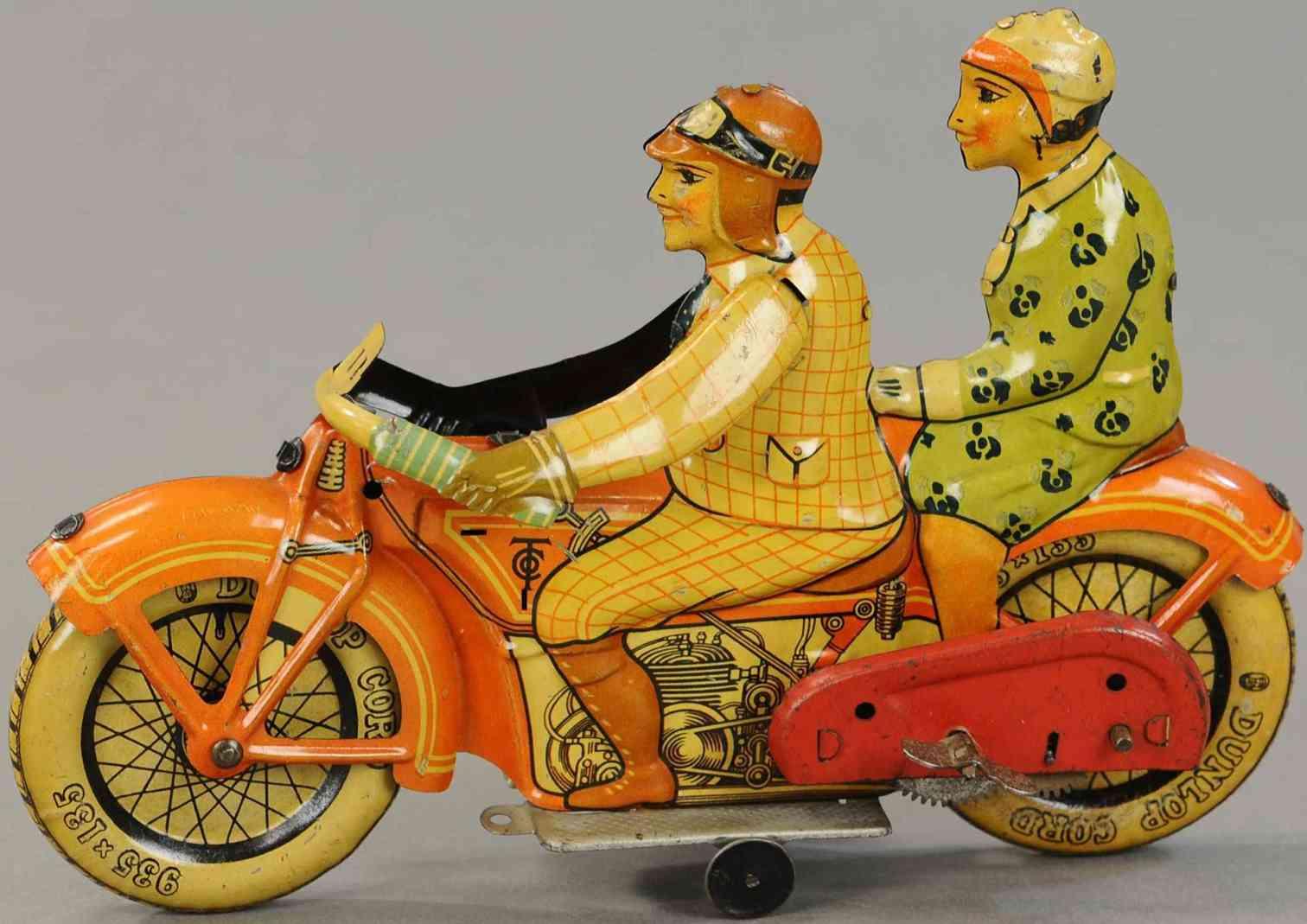 tippco blech spielzeug motorrad motorrad mit fahrer und beifahrerin